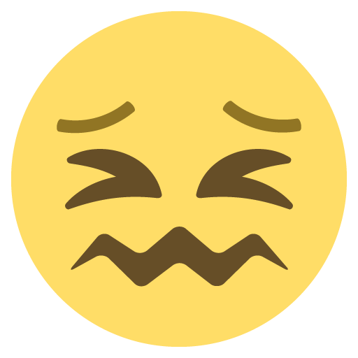 Confounded Face Emoji