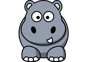 Base Baby Hippo Wall Decals