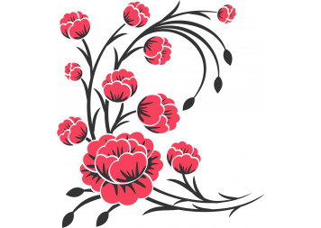 Best Flower Design Wall Decals