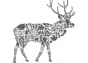 Beautiful Graphic Deer Wall Decals