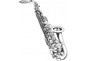 Beautiful Saxophone Wall Decals