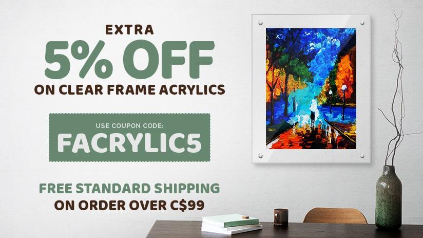 Clear Frame Acrylics