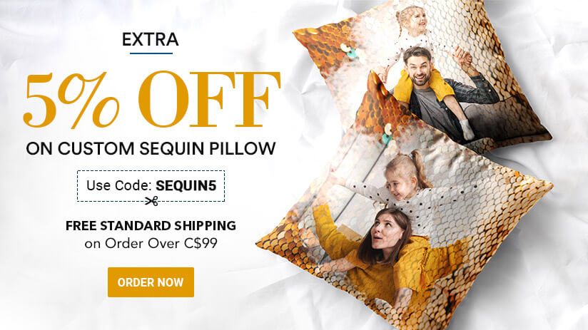 Custom Sequin Pillow!