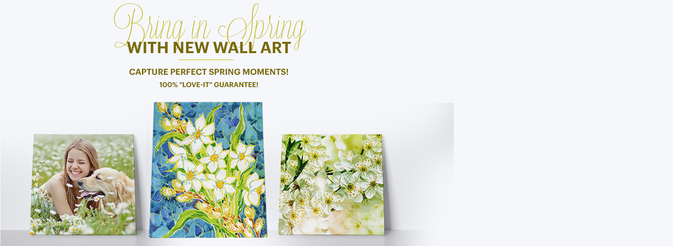 Bring in Spring with wall art!