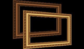 Brown golden frame