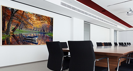 The modern office interior (rendering) - Modern office wall art