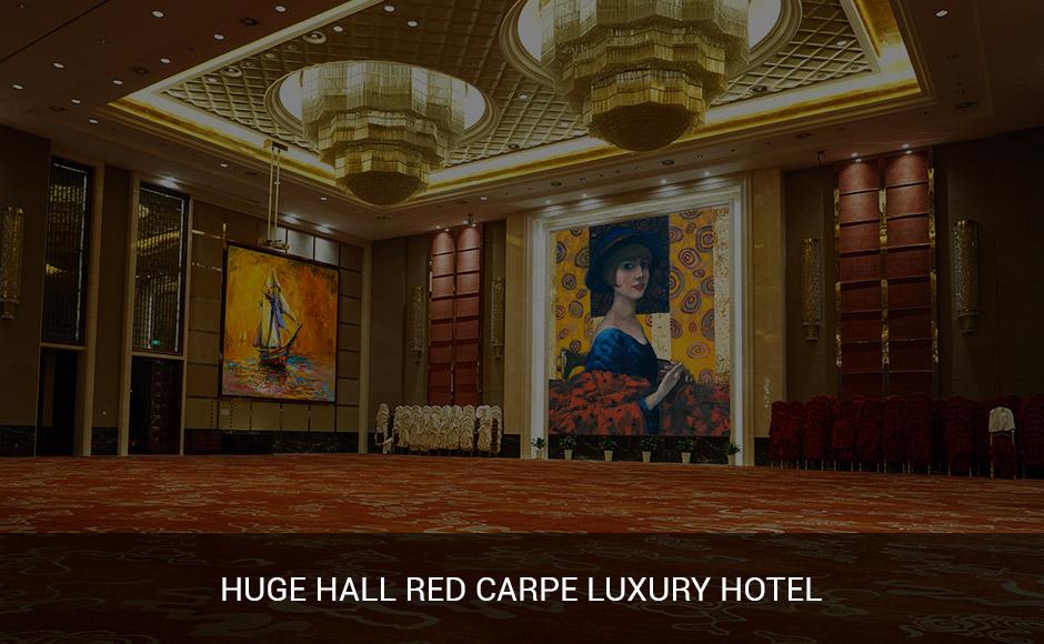Huge Hall red carpe luxury Hotel