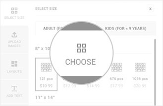 Choose Custom Size