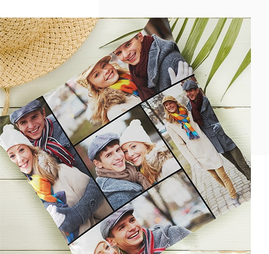 Photo Collage on Pillow Case Covers