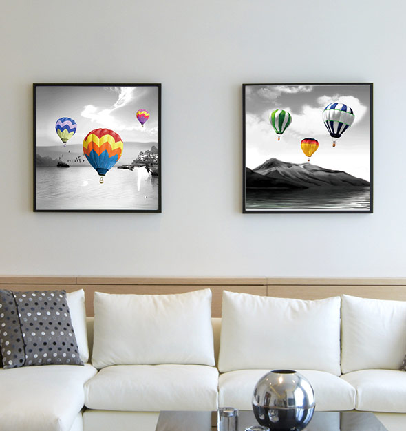 3D Hot Ballons Picture Frames
