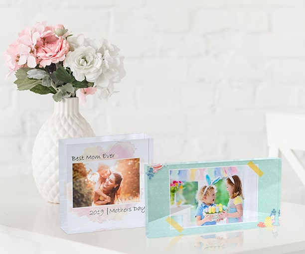 Enliven your desk, mantle or shelf with an acrylic photo block