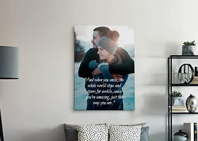 Custom Lyrics on Canvas