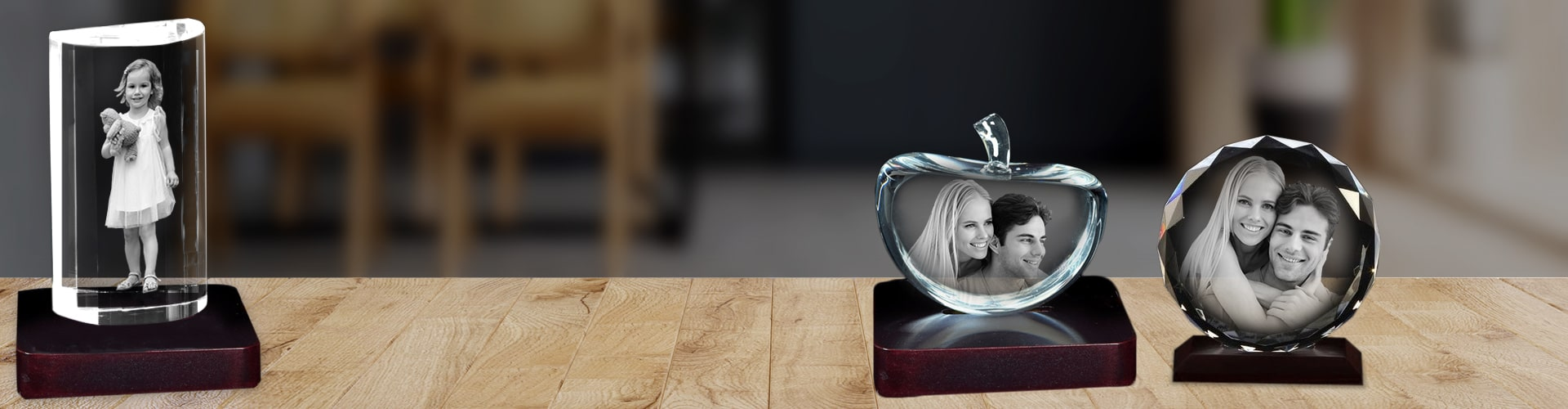 Personalised 3D Crystal Cube