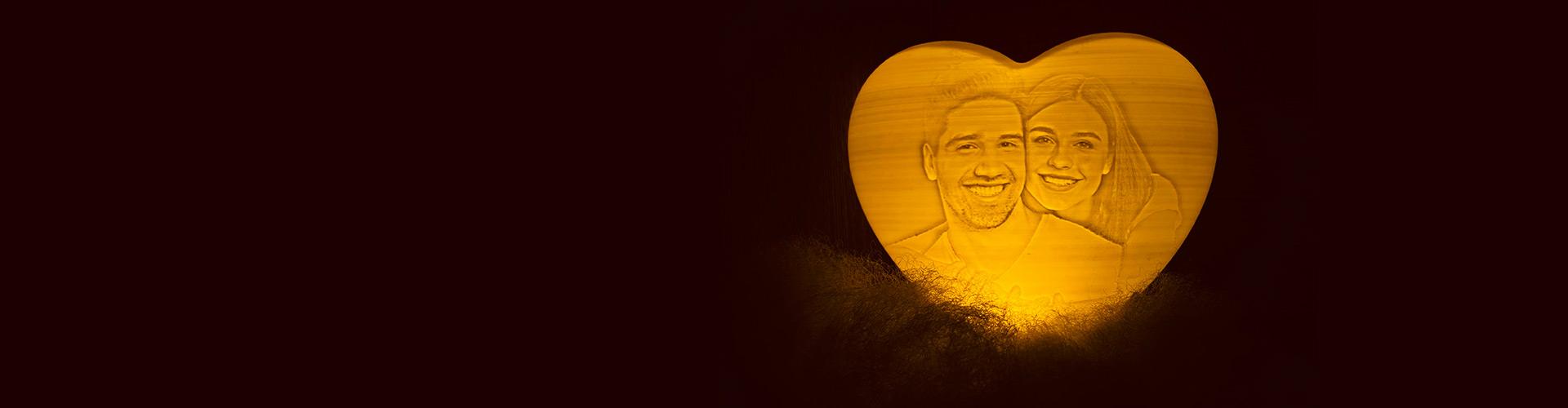 Heart-Shaped Photo Lamp