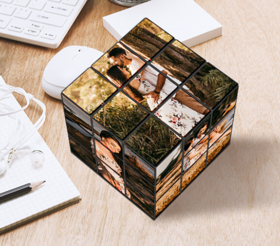 Display your fun pictures with a custom-made Rubik's cube